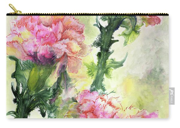 Pink Carnations Carry-all Pouch
