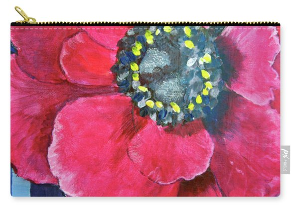 Pink Cheerful Flower Carry-all Pouch