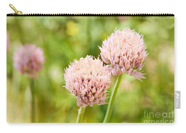 Pink Chives Flowering Plant Detail Carry-all Pouch