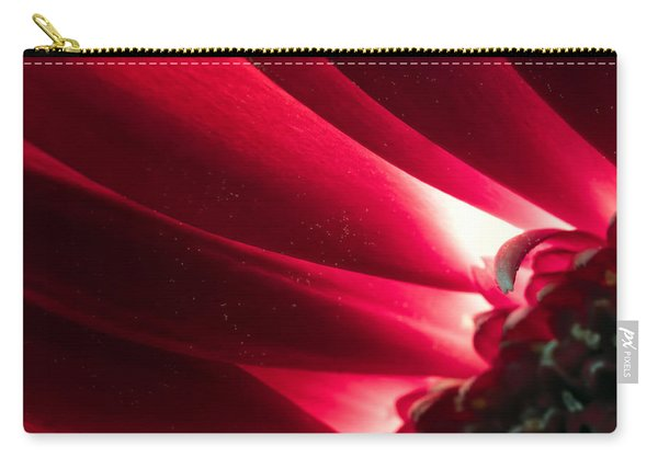 Pink Chrysanthemum Flower Petals  In Macro Canvas Close-up Carry-all Pouch