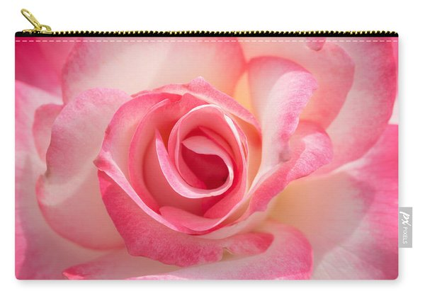Pink Cotton Candy Rose Carry-all Pouch