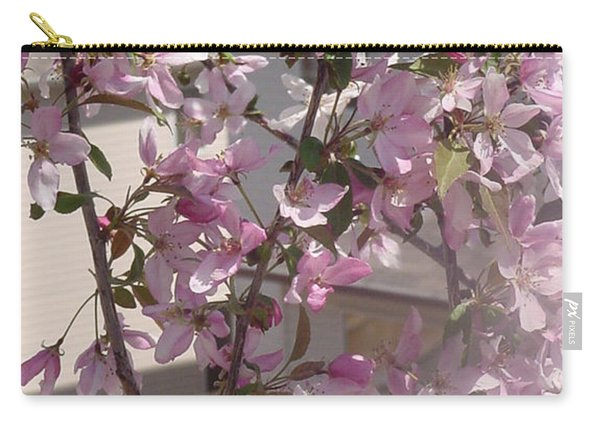 Pink Crabapple Branch Carry-all Pouch