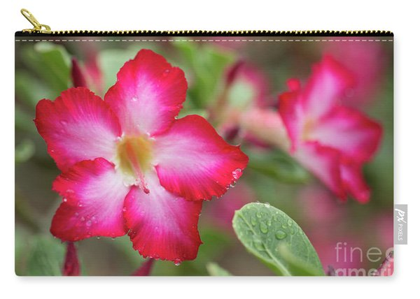 Pink Desert Rose Flower Carry-all Pouch