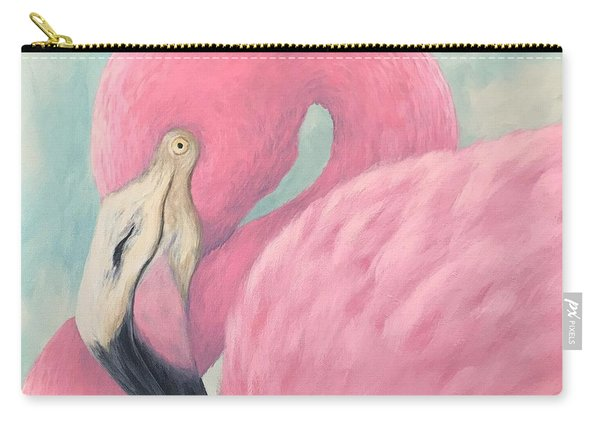 Pink Flamingo V Carry-all Pouch