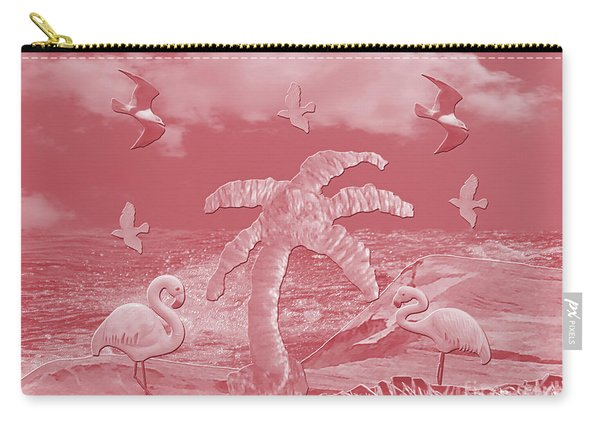 Pink Flamingo's Palms Carry-all Pouch