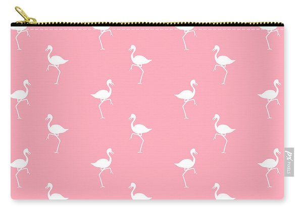 Pink Flamingos Pattern Carry-all Pouch