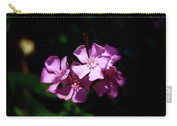 Pink Floral Artistry Carry-all Pouch
