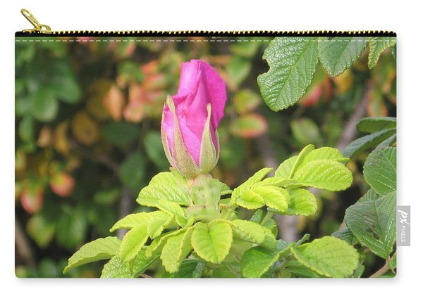 Pink Flower Bud Carry-all Pouch