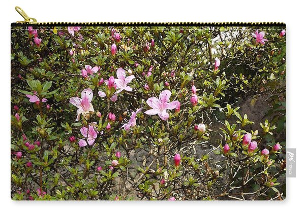Pink Flower Bush Carry-all Pouch