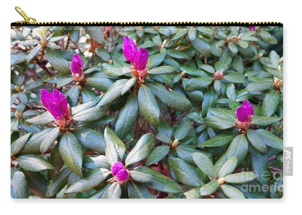 Pink Flowers, Bush Carry-all Pouch