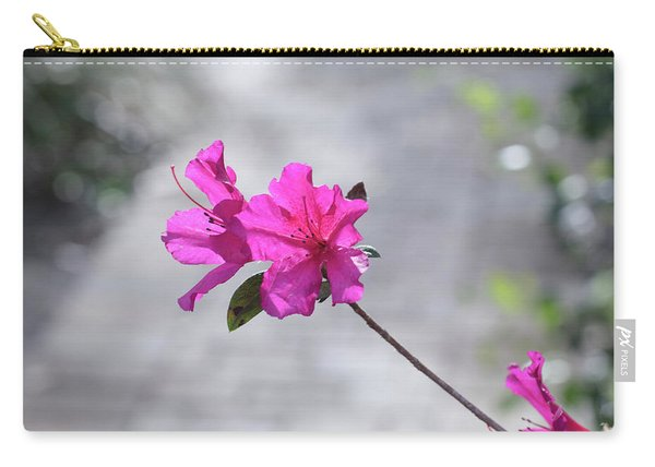 Carry-all Pouch featuring the photograph Pink Flowers by Raphael Lopez
