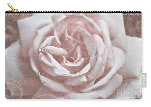 Pink Garden Rose Carry-all Pouch