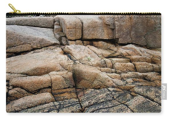 Pink Granite And Driftwood At Schoodic Peninsula In Maine  -4672 Carry-all Pouch