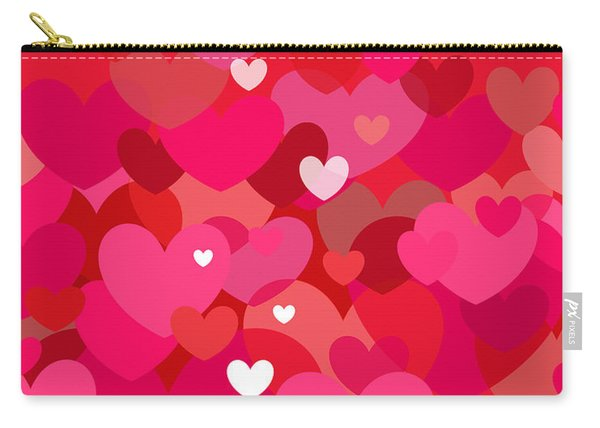 Pink Heart Abstract Carry-all Pouch