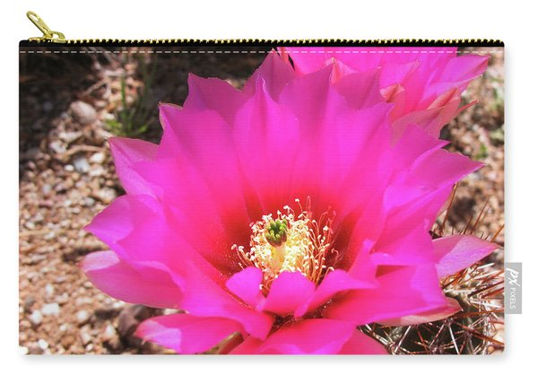 Pink Hedgehog Flower Carry-all Pouch