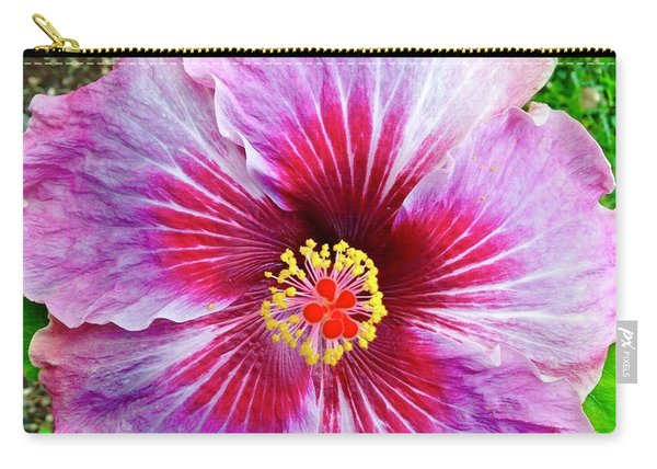 Pink Hibiscus Joyous Cosmology Carry-all Pouch