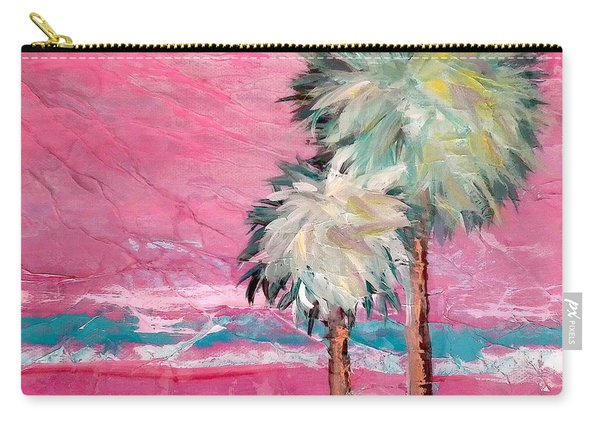 Pink Horizon Palms Carry-all Pouch