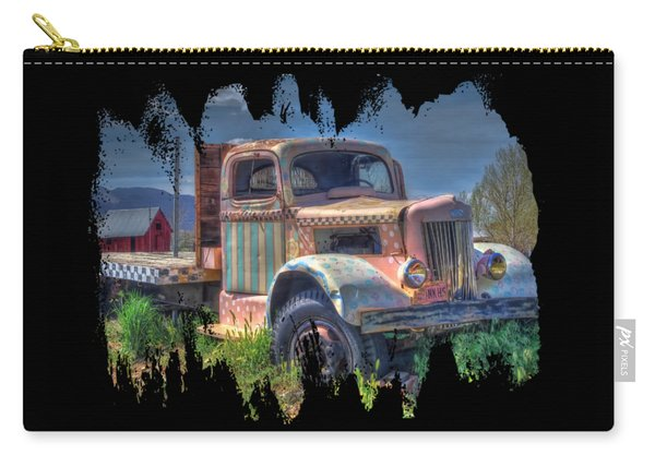 Classic Flatbed Truck In Pink Carry-all Pouch