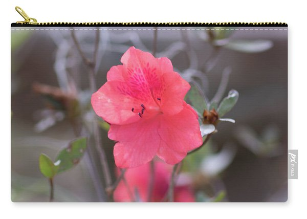 Carry-all Pouch featuring the photograph Pink Orange Flower by Raphael Lopez
