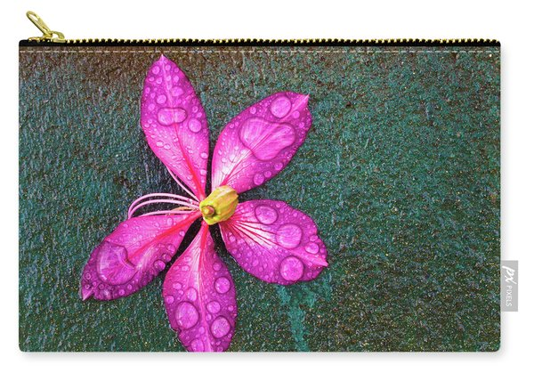 Pink Orchid Flower Carry-all Pouch