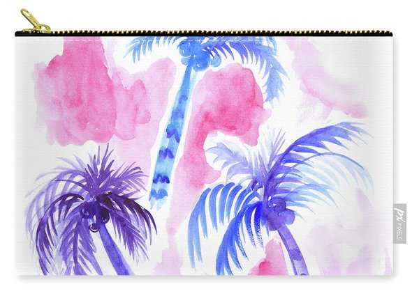 Pink Palm Trees Carry-all Pouch