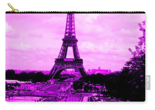 Pink Paris Carry-all Pouch