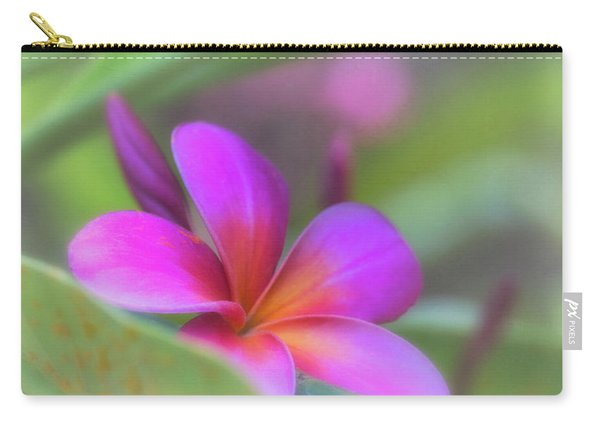 Pink Peekaboo Plumeria Carry-all Pouch