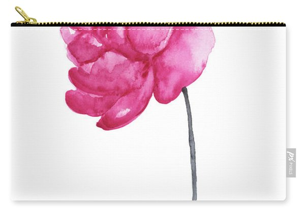 Pink Peony, Nursery Room Print, Baby Girl Kids Room Decoration,  Carry-all Pouch