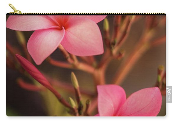 Pink Plumeria Rubra Carry-all Pouch