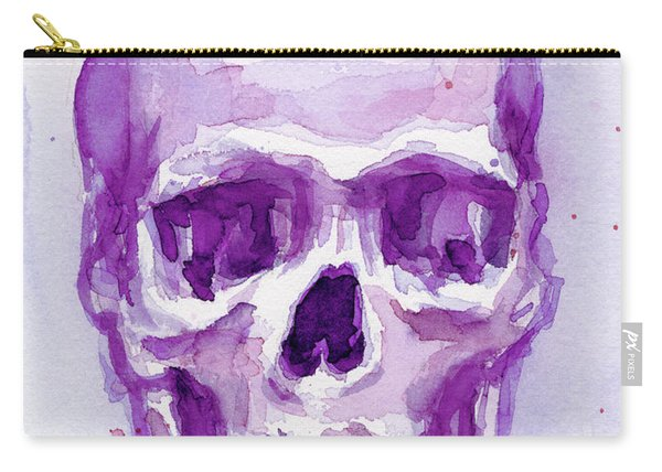 Pink Purple Skull Carry-all Pouch