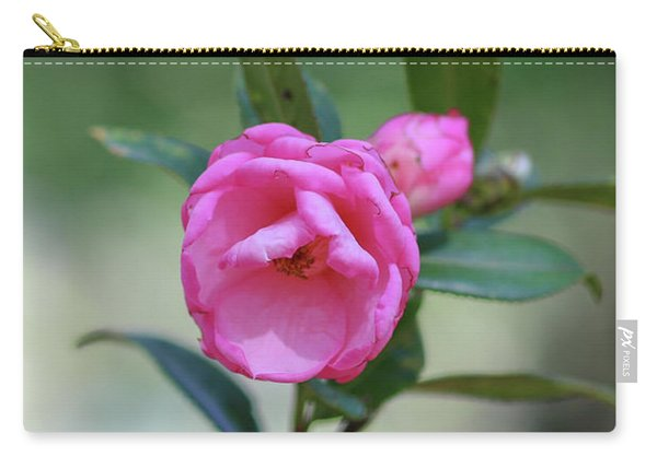 Carry-all Pouch featuring the photograph Pink Rose Flower by Raphael Lopez