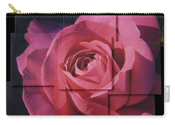 Pink Rose Photo Sculpture Carry-all Pouch