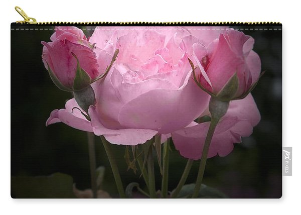 Pink Rose With Buds Carry-all Pouch