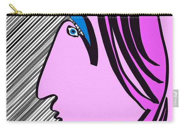 Pink Scarf Carry-all Pouch