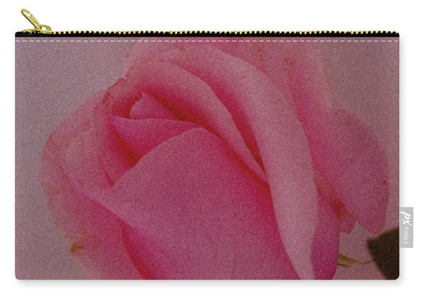 Pink Single Rose Carry-all Pouch