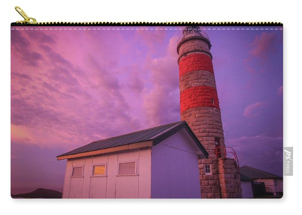 Pink Skies At Cape Moreton Lighthouse Carry-all Pouch