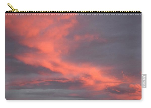Carry-all Pouch featuring the digital art Pink Clouds In The Sky by Margarethe Binkley