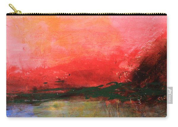 Pink Sky Over Water Abstract Carry-all Pouch