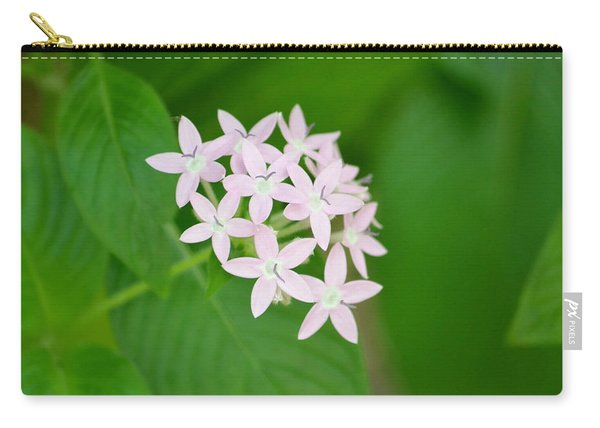 Carry-all Pouch featuring the photograph Pink Stars by Michael Colgate