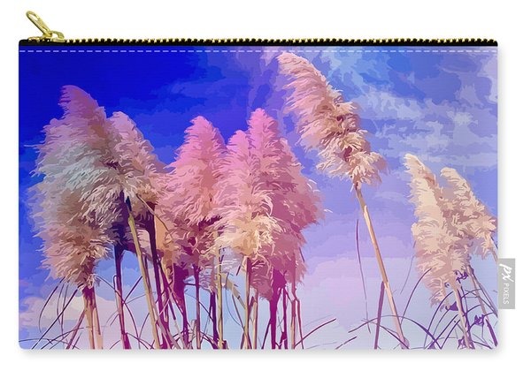 Pink Toi Toi Grasses Carry-all Pouch