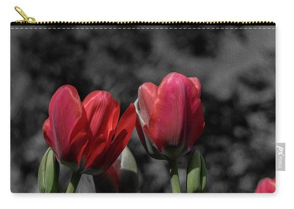 Pink Tulip Pop Carry-all Pouch