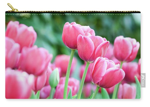 Pink Tulips 716 Carry-all Pouch