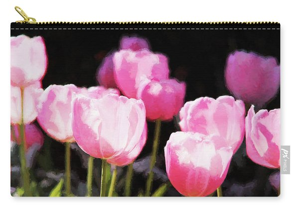 Pink Tulips Carry-all Pouch