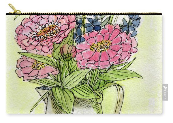 Pink Zinneas Carry-all Pouch