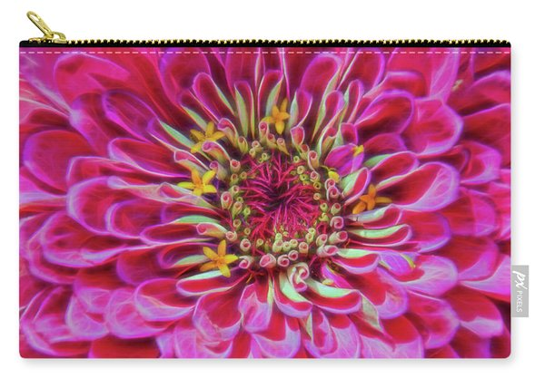 Pink Zinnia Glow Carry-all Pouch