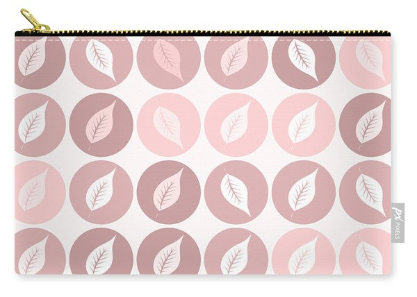 Pinkish Leaves Carry-all Pouch