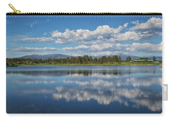 Carry-all Pouch featuring the photograph Pinon Lake Reflections by Jason Coward