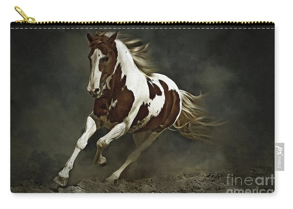 Pinto Horse In Motion Carry-all Pouch