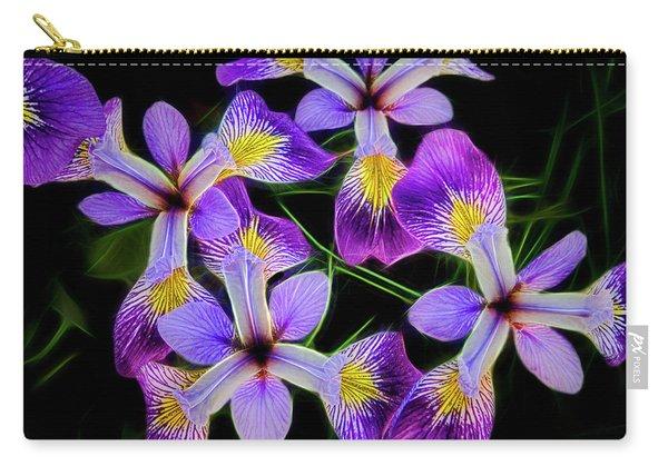 Pinwheel Purple Iris Glow Carry-all Pouch