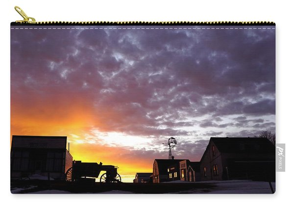 Pioneer Town Sunset Carry-all Pouch